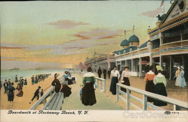 Boardwalk at Rockaway Beach, N.Y. New York