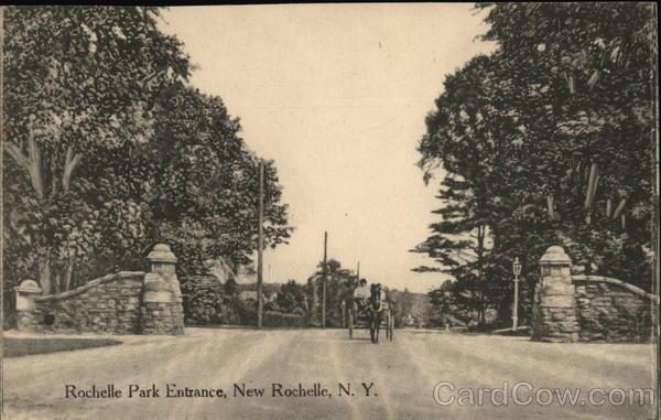 Rochelle Park Entrance New Rochelle New York