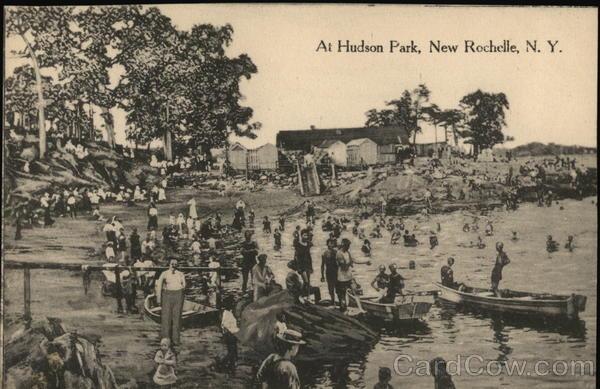 hudson park new rochelle ny postcard. Black Bedroom Furniture Sets. Home Design Ideas