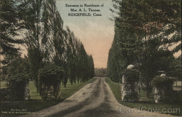 Entrance to Residence of Mrs. A.L. Thomas Ridgefield Connecticut