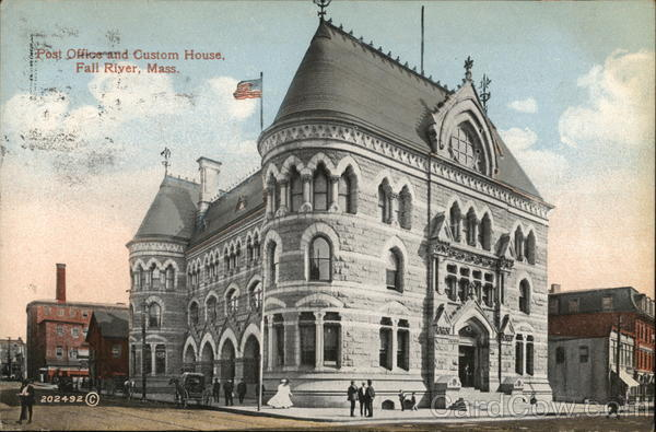 Post Office and Customs House Fall River Massachusetts