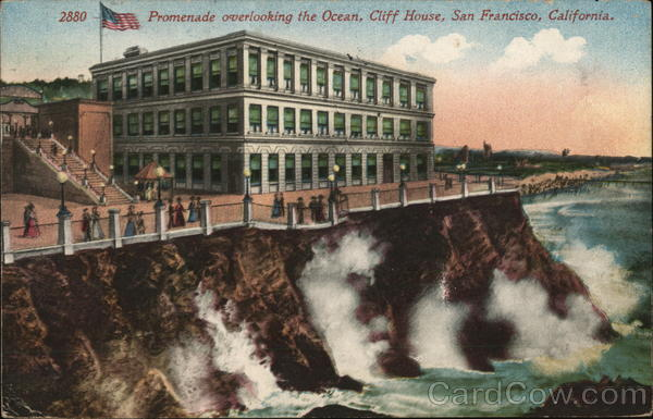 Promenade Overlooking the Ocean, Cliff House San Francisco California