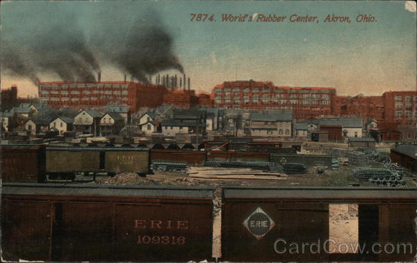 World's Rubber Center Akron Ohio