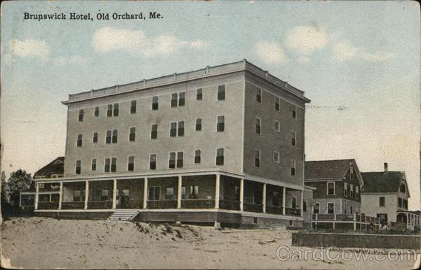 brunswick hotel old orchard beach me postcard. Black Bedroom Furniture Sets. Home Design Ideas