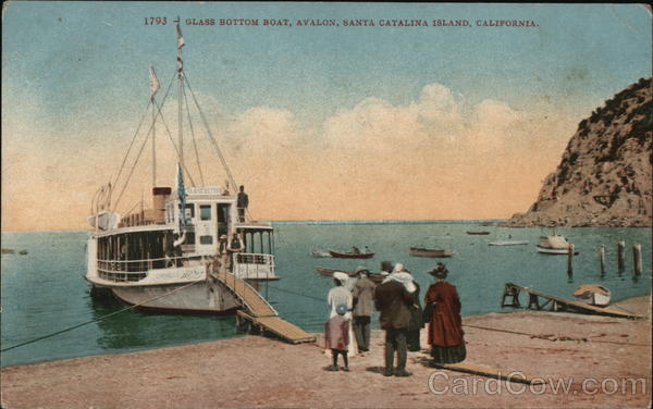 Glass Bottom Boat, Ayalon Santa Catalina Island California