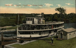"Steamer ""Goodridge"", Songo Locks Postcard"