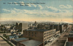 View of Business District from Owyhee Roof Garden