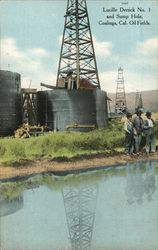 Lucille Derrick No. 1 and Sump Hole, Coalinga, Cal. Oil Fields
