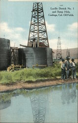 Lucille Derrick No. 1 and Sump Hole, Oil Field