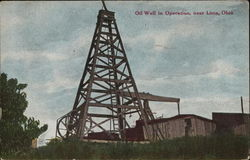 Oil Well in Operation, near Lima