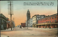 Atlantic Ave showing City Hall Kuehule's Hotel and Chelsea National Bank
