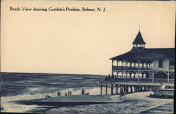 Beach View Showing Gordon's Pavilion Postcard