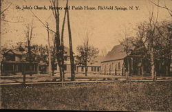 St. Johns's Church, Rectory and Parish House Postcard