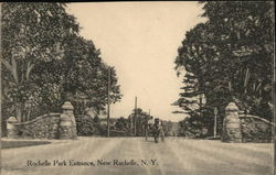 Rochelle Park Entrance Postcard