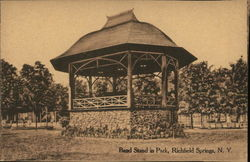 Band Stand in Park Postcard