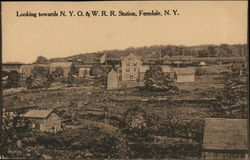 Looking Towards N.Y.O. & W.R.R. Station Postcard