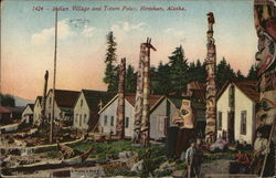 Indian Village and Totem Poles