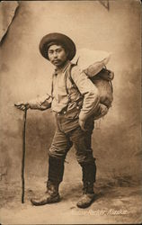 Native Packer, Alaska Postcard