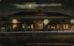 R.F. & P. Depot at Night