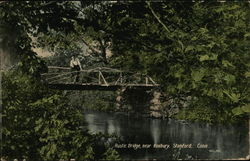 Rustic Bridge near Roxbury Postcard
