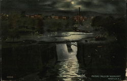Passaic Falls by Moonlight