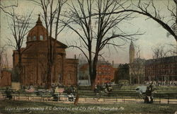 Logan Square Showing R.C. Cathedral and City Hall