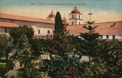 Garden of Santa Barbara Mission, California