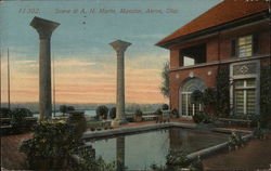Scene at A.H. Marks Mansion