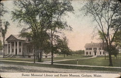 Baxter Memorial Library and Baxter Museum Postcard