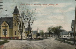 Lower Main Street and Congregational Church