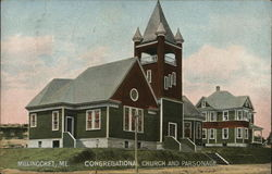 Congregational Church and Parsonage Postcard