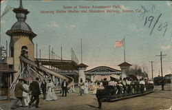 Scene at Venice Amusement Park