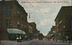 Spring Street, Corner of Chestnut Looking North
