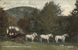A Six Hourse White Mountain Stage Coach