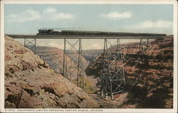 California Limited Crossing Canyon Diablo, Arizona