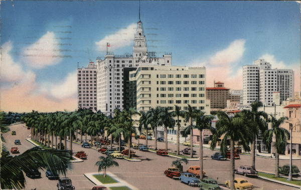 Biscayne Boulevard Looking South from N.E. 5th Street Miami Florida