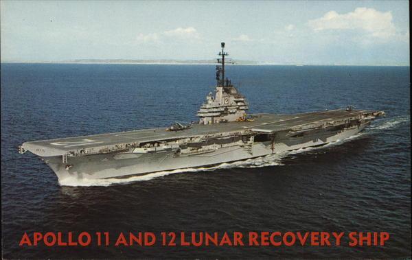 Apollo 11 and 12 Lunar Recovery Ship Ships Postcard