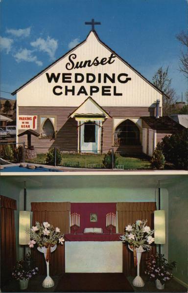 Sunset Wedding Chapel Reno Nv Postcard