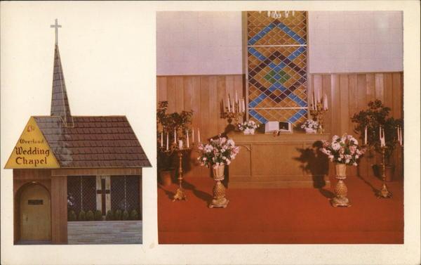 Overland Hotel Wedding Chapel Reno NV Postcard