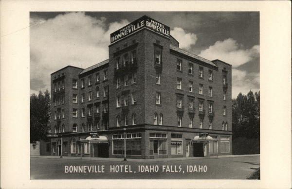 bonneville hotel idaho falls id postcard. Black Bedroom Furniture Sets. Home Design Ideas
