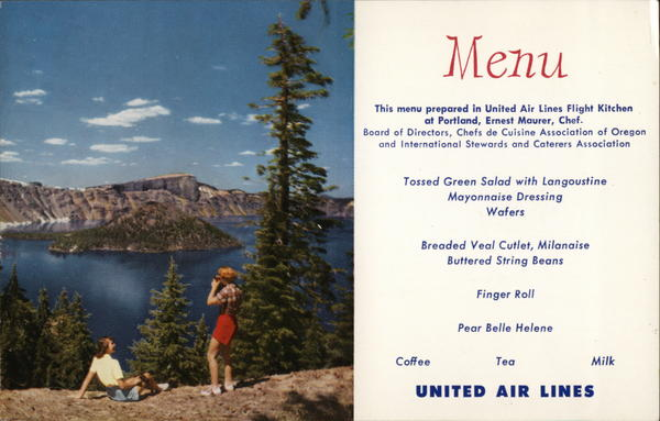United Menu / Crater Lake, Oregon Crater Lake National Park