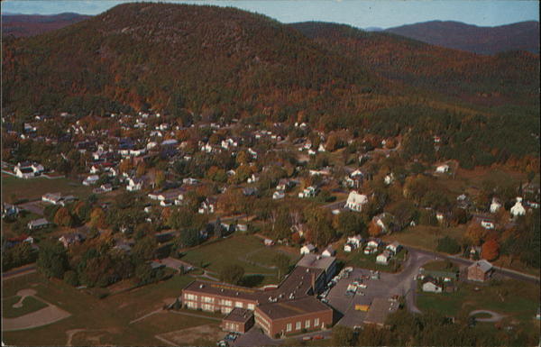 Aerial View Warrensburg New York