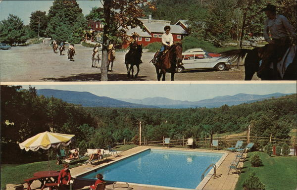 Roaring Brook Ranch Resort Lake George, NY Postcard