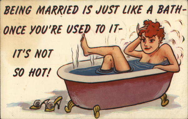 Being Married is Just Like a Bath Comic, Funny