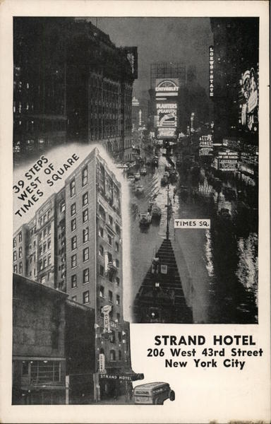 strand hotel new york ny postcard. Black Bedroom Furniture Sets. Home Design Ideas
