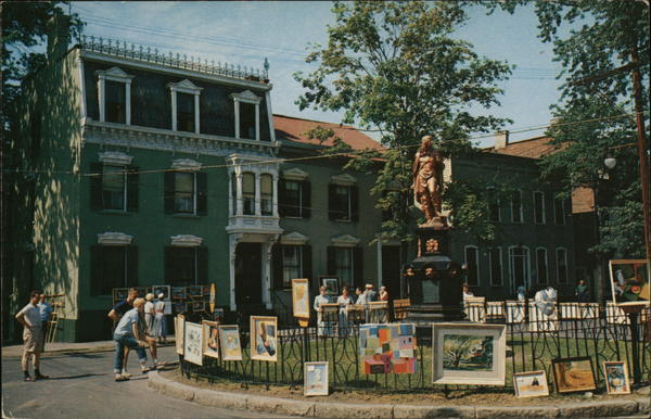 Indian Statue at Ferry and Front Streets Schenectady New York