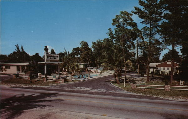 Rancho Grande Motel Stuart Fl Postcard
