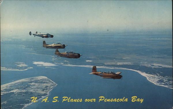 N.A.S. Planes over Pensacola Bay Florida