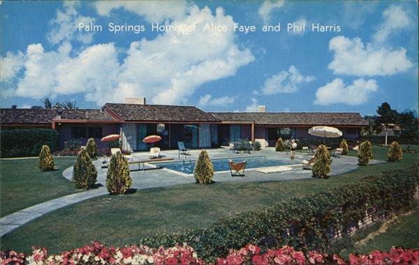 Palm Springs Home of Alice Faye and Phil Harris California