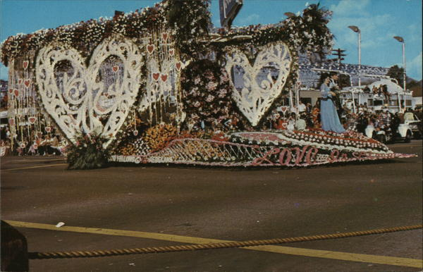 Love in Bloom - Odd Fellows - Rebekah's Rose Parade Float 1973 Pasadena California